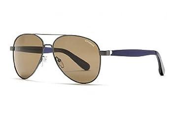 Gafas de sol polarizadas Polaroid Plus PLP 0201 BHA gris barras azul oscuro lentes antirreflejos 100% UV Block Sunglasses Polarized Persol: Amazon.es: ...