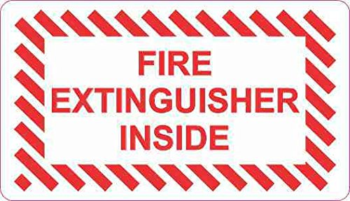 3.5in x 2in Fire Extinguisher Inside Magnet Vinyl Window Magnetic Sign by StickerTalk
