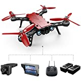 XFUNY MJX Bugs 8 Pro RC Quadcopter 5.8G 720P Camera Live Video 2.4GHz High Speed RC Racing Helicopter 6-Axis Gyro Aircraft B8pro FPV Drone with RX Display, 2 Battery (B8 Pro)