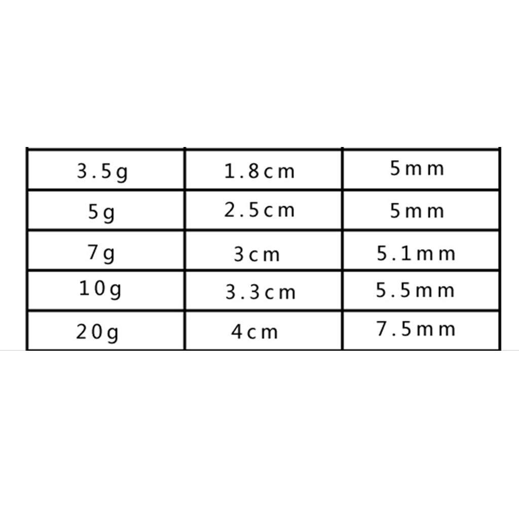 SM SunniMix 50 Pack Drop-shot Rig Sinkers Rotating Weight Sinker Jig Head Rolling Swivel
