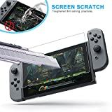 PECHAM 2-Pack Tempered Glass Screen Protector for Nintendo Switch [2017]