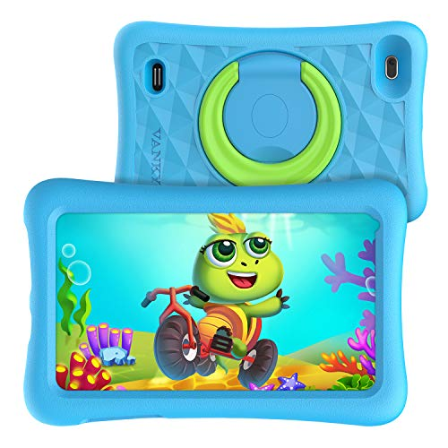 Vankyo MatrixPad Z1 Kids Tablet 7 inch, 32GB ROM, Kidoz Pre Installed, IPS HD Display, WiFi Android Tablet, Blue