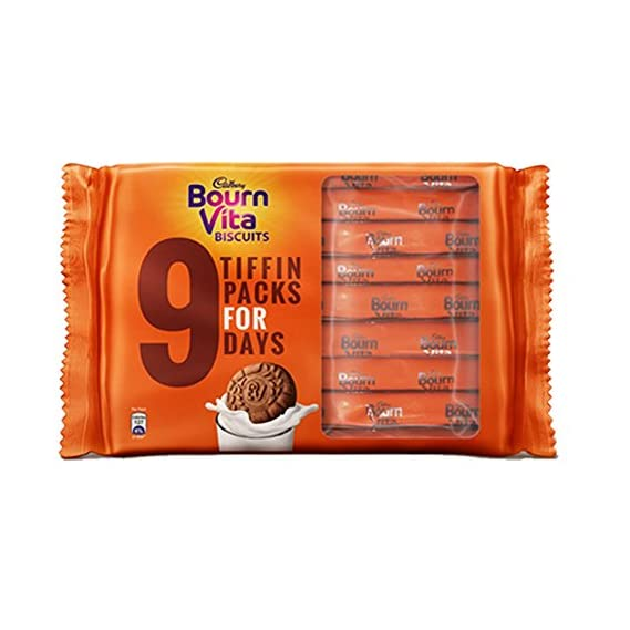 Bournvita Biscuits, 250 gm Tiffin Pack (Pack of 5)