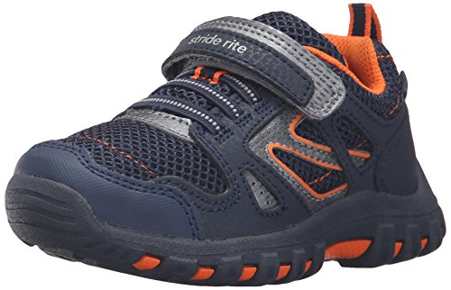 Stride Rite Made 2 Play Artin Sneaker (Toddler/Little Kid/Big Kid), Navy, 10 W US Toddler