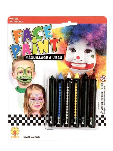 Rubies Face Painting Stick Set, 6-Color ()