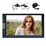 Wireless Rear Camera + Universal 2 Din Car Autoradio Car MP5 Player 7 inch Capacitive Touch Screen Stereo FM Receiver EQ Support USB/AUX/Steering Wheel Control/Remote Control