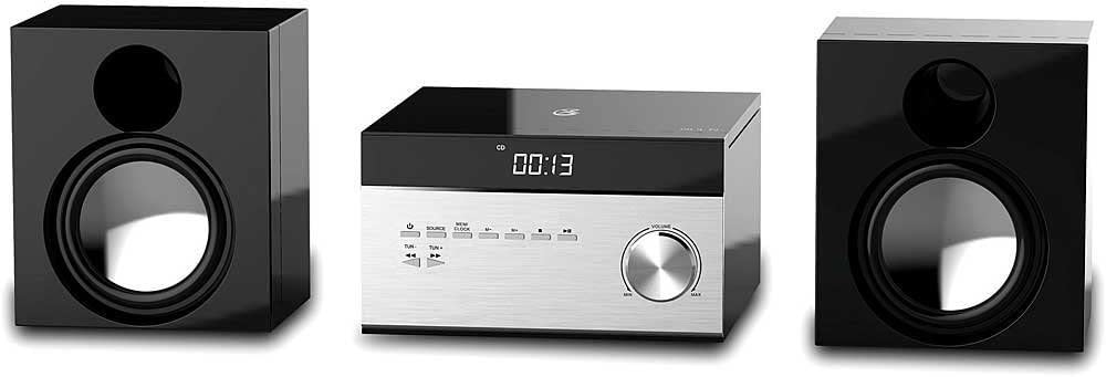 GPX Cd Player & Digital AM/FM Radio Tuner Hi-Fi Desktop Home Audio Stereo Sound System