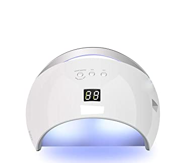Secador de uñas UV portátil para gel y esmalte regular con sensor para uñas acrílicas, lámpara de secado de uñas UV luz lámpara de secado rosso: Amazon.es: ...