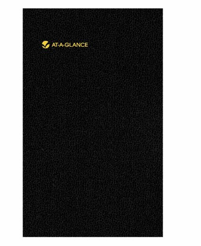 AT-A-GLANCE Undated Website Address Book and Password Keeper, Black, 3.63 x 6.13 x .21 Inches -