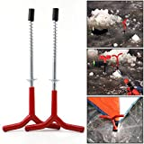2pcs Ice Fishing Rod Stand Outdoor Y Shape Holder rests Rack Tackle Pole Tent Pegs Travel Fixed Ice Pitons Screw Nail Auger Drill Review