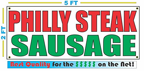 PHILLY STEAK SAUSAGE All Weather Full Color Banner Sign
