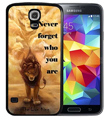S4 Case Samsung Galaxy S4 Black Cover TPU Rubber Gel - Never forget who you are - The Lion King