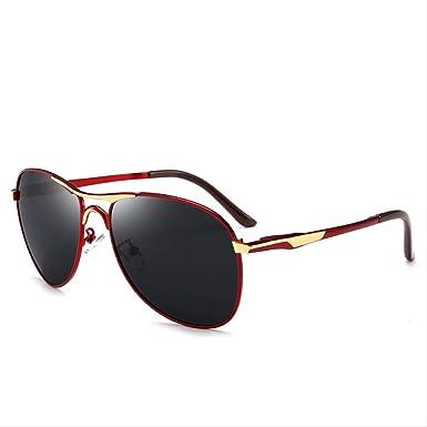 Gafas de sol polarizadas para hombre, gafas de sol polarizadas para ciclismo, color rojo: Amazon.es: Ropa y accesorios