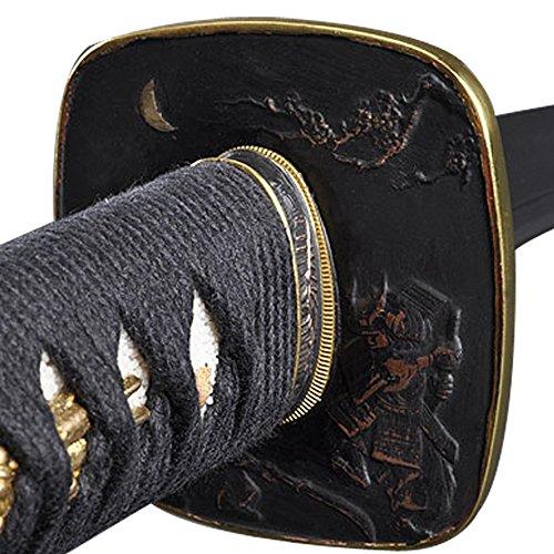 Handmade Sword – Samurai Wakizashi Sword, Practical, Hand Forged, 1045 Carbon Steel, Clay Tempered, Damascus, Full Tang, Sharp, Raised Details Tsuba, …