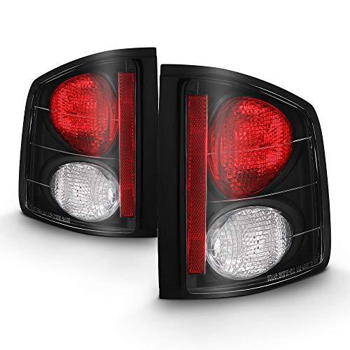 - ACANII - For 1994-2004 Chevy S10 GMC Sonoma Black Tail Lights Brake Lamps Aftermarket Set Driver & Passenger Side
