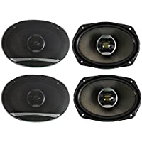 4) Pioneer 6x9 Inch 720 Watt 2-Way Coaxial Car Stereo Speakers Four | TS-D6902R