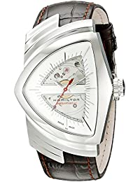 Mens H24515551 Ventura Analog Display Automatic Self Wind Brown Watch