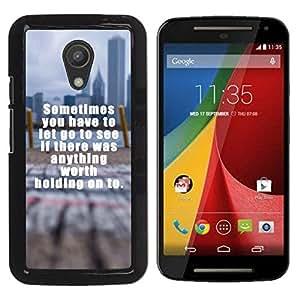iBinBang / Funda Carcasa Cover Skin Case - Worth Texto Sosteniendo Inspiring borrosa City - Motorola MOTO G 2ND GEN II