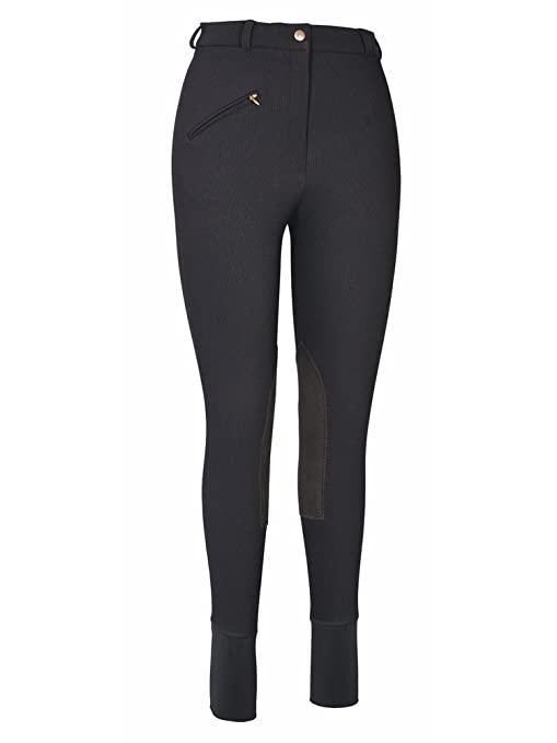 Knee patch breeches.