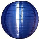 Quasimoon PaperLanternStore.com 10'' Navy Blue Nylon Lantern, Durable Hanging Decoration