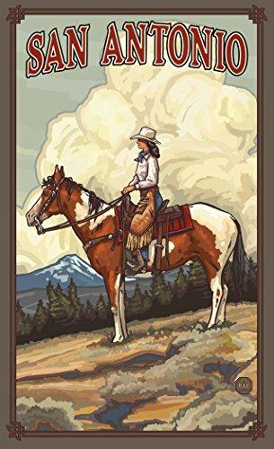 Northwest Art Mall PAL-4819 SCG San Antonio Texas Summer Cowgirl Print by Artist Paul A. Lanquist, 11