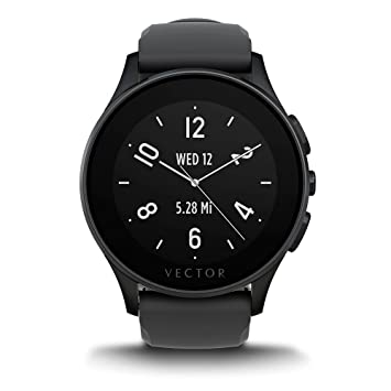 Vector L1-10-003 Luna - Smartwatch de silicio, color negro: Amazon.es: Electrónica