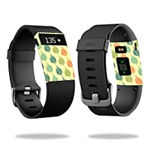 Skin Decal Wrap for Fitbit Charge HR cover skins sticker watch Maze Leaves