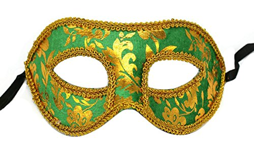 Men's Masquerade Christmas Halloween Ball Party Half Face Masks (Green)