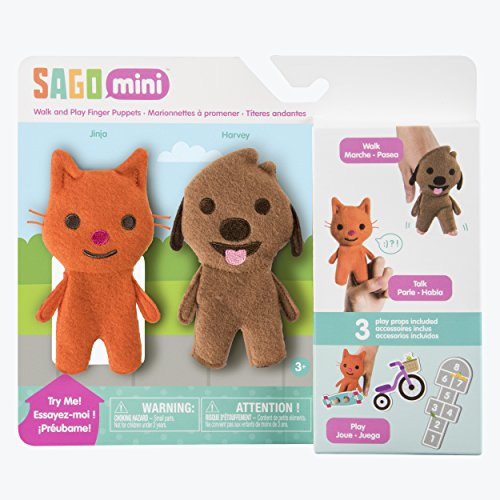 - Sago Mini - Walk &-Play Finger Puppets for Ages 3 and Up