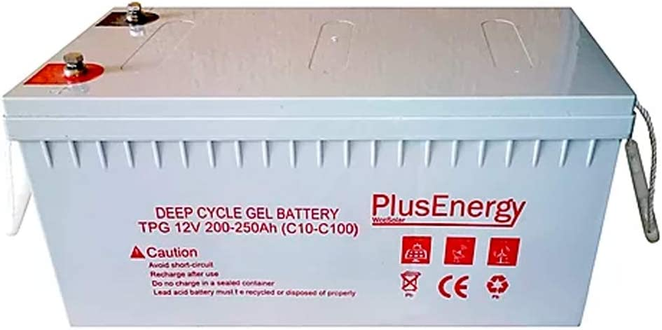 PlusEnergy Batería Gel TPG250 12V 250Ah Ciclo Profundo