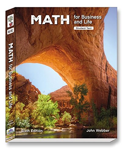 Math for Business and Life, 6 Ed, Student Softback Text