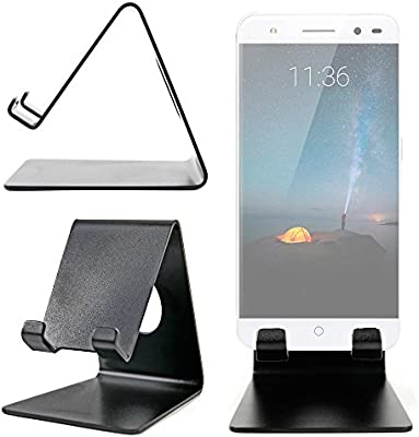 DURAGADGET Atril De Aluminio para Smartphone ZTE Grand X MAX 2 / Axon 7 /Nubia Z11 MAX/Blade A2 Escritorio!: Amazon.es: Electrónica