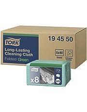 Tork Paño de limpieza de larga duración Premium / 1 capa/Paños multiusos compatibles con el sistema W8 / 8 paquetes x 40 paños (320 piezas), surtido de colores