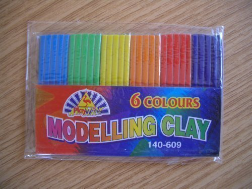 4 Packs Childrens Modelling Clay / Plasticine Ideal Party Bags by Playwrite