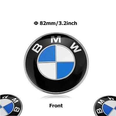 Haocc Loud 82mm BMW 2 pin Emblem Logo Replacement for Hood/Trunk for All Models BMW E30 E36 E46 E34 E39 E60 E65 E38 X3 X5 X6 3 4 5 6 7 8 (1pc): Automotive [5Bkhe0907320]