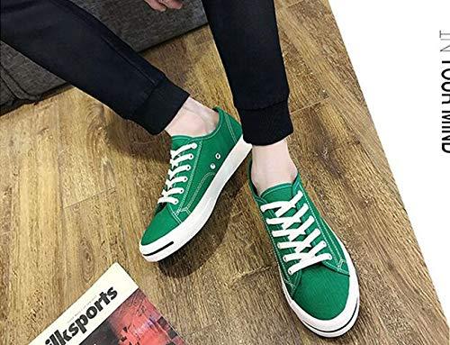 Sonrisa Li Verde Transpirables Hombre Zapatos Zhou Moda Xue Con Para Lona De Informales vZ1Zqdw