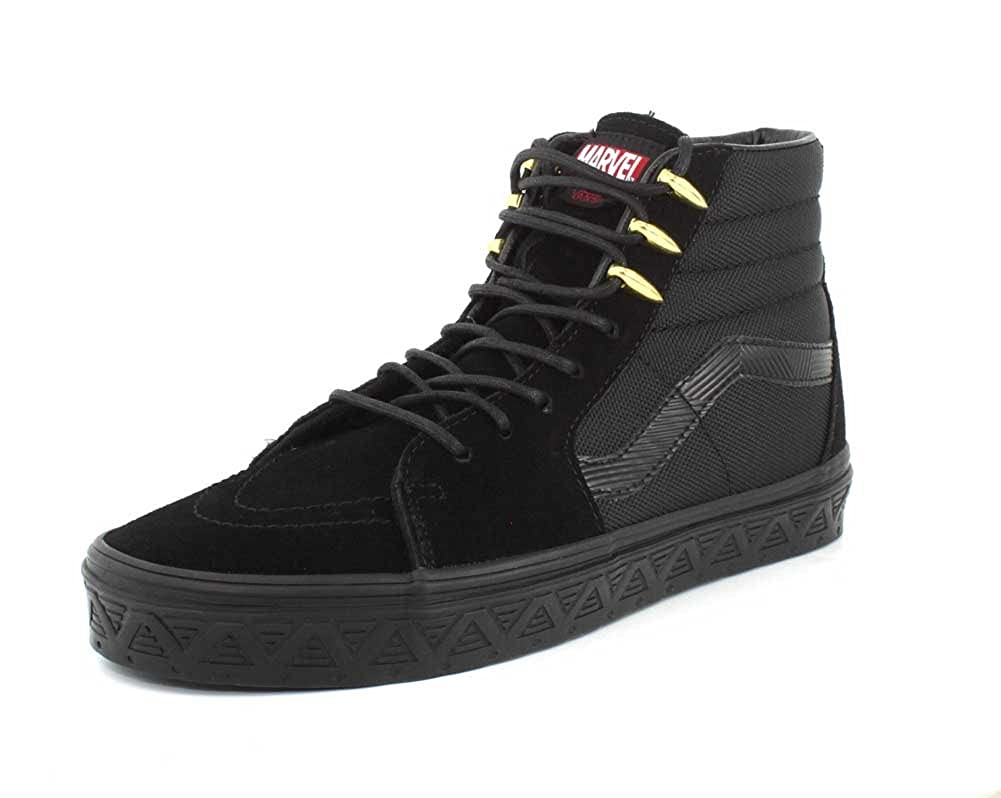 ceb447115977f9 Vans Sk8 Hi Black Panther Marvel - 8 UK  Amazon.co.uk  Shoes   Bags