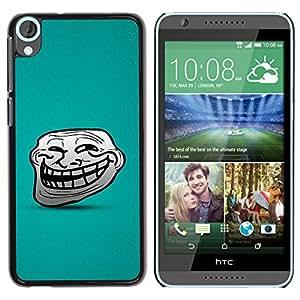 Qstar Arte & diseño plástico duro Fundas Cover Cubre Hard Case Cover para HTC Desire 820 ( Big Smile Cartoon Face Comic Character Teeth)