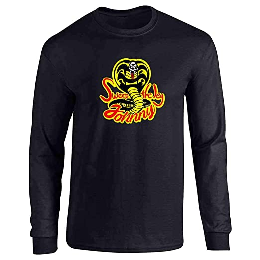 abcbfbfb3 Sweep The Leg Johnny Cobra Kai Karate Kid 80s Black S Long Sleeve T-Shirt