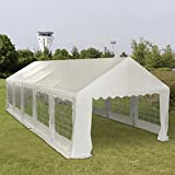 Tangkula 13'X32′ Wedding Party Tent Canopy Carport Heavy Duty (White) Review