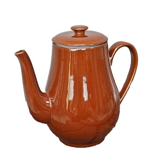 Plint Café Pott marrón chocolate Jarra Cafetera Tetera de cerámica ...