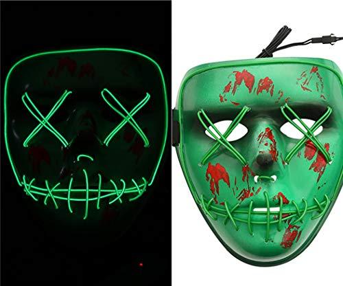 (Light Up Mask, Coxeer Men's Phantom Of The Opera Masquerade Mask Halloween Half Face Mask Vintage)