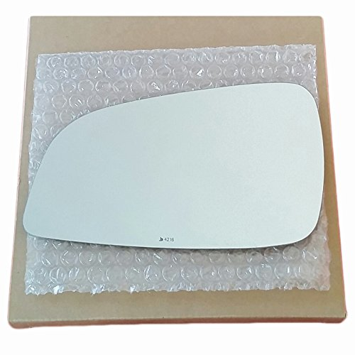 Mirror Glass and ADHESIVE | 2009 - 2012 Chevy Malibu / 2007 - 2009 Saturn Aura Driver Left Side Replacement Glass