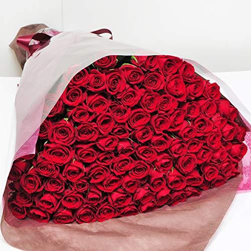 赤いバラの花束 90本 最高級のトップローズを使用 薔薇 エーデルワイス 花工房 B07NYPHNW9