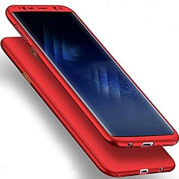 Coque pour Samsung Galaxy S9 Plus + Verre trempé Film de Protection, SaKuLa Samsung Galaxy S9 Plus Coque 360 Degrés de Protection Complète Protecteur Coque [Full body avant et arrière Protection] dur Etui PC Plastique, Housse de Protection Cas en caoutchou