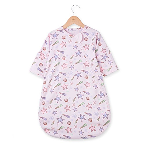 OuYun Baby Sleeping Bag Single Layer Cotton Wearable Blanket Spring Autumn, Large
