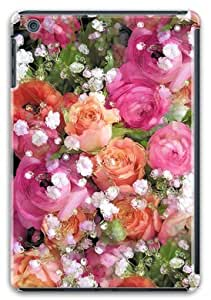 Baby's Breath and Candy Roses Hard Protective 3D Ipad Mini Retina Cover Case by Lilyshouse by rushername