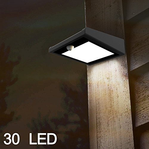 Brightest 30 LED ?Solar Light Outdoor, Mulcolor Waterproof Wireless Solar Powered PIR Motion Sensor Security Wall Light Lamp with Two Intelligent Modes for Garden, Patio and Pathway