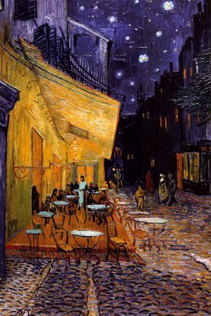 Poster Foundry Unframed - 24x36 Paper Cafe Terrace at Night Vincent Van Gogh Art Print Poster, (24x36) Unframed