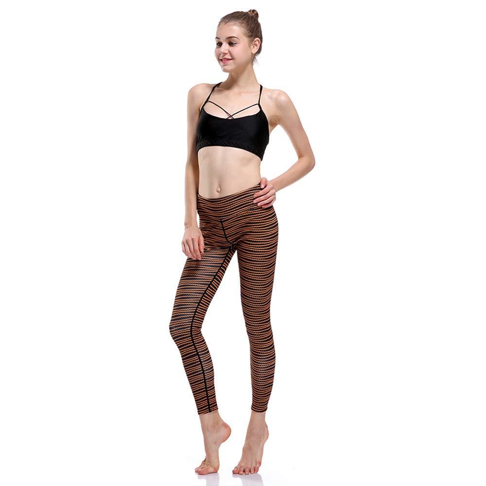 MAOYYMYJK Yoga-Hose Für Damen Wellenlinien, Die Die Hüftbewegung Abnehmen, Atmungsaktiv, Superelastisch, Schnell Trocknend, 9-Punkte-Yoga-Kleidung-0102